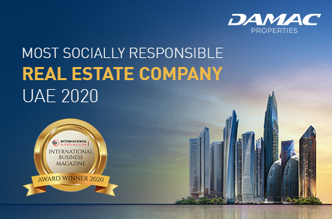 International Business Magazine Awards 2020 - DAMAC Properties was awarded Most Socially Responsible Real Estate Company 2020